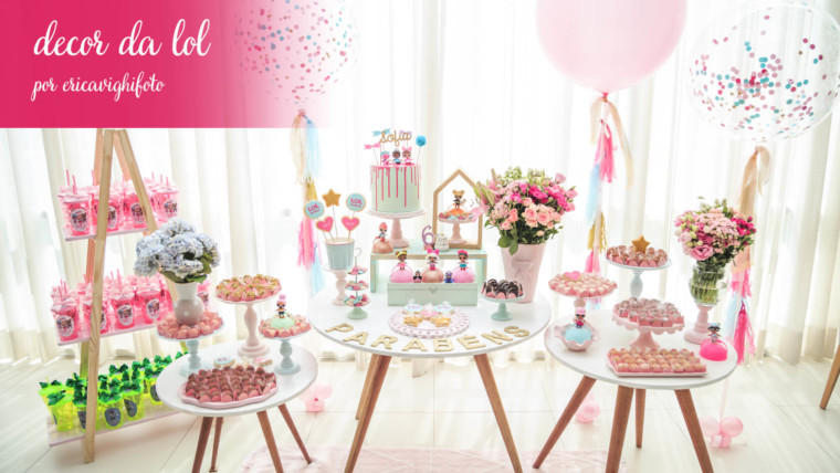 Decoração de festa LOL do aniversário da Sofia!