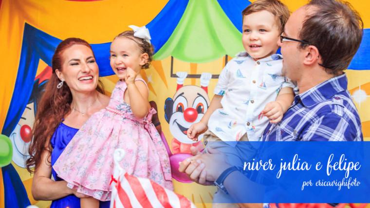 Aniversário de dois aninhos da Julia e do Felipe