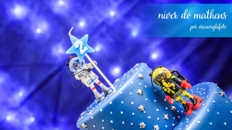 Fotografia de festa do aniversário de dois aninhos do Matheus
